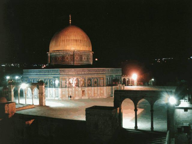 Al-Masjid Al-Aqsa - Dome of the Rock at night, Jerusalem
